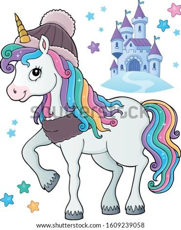 winter unicorn theme image 1