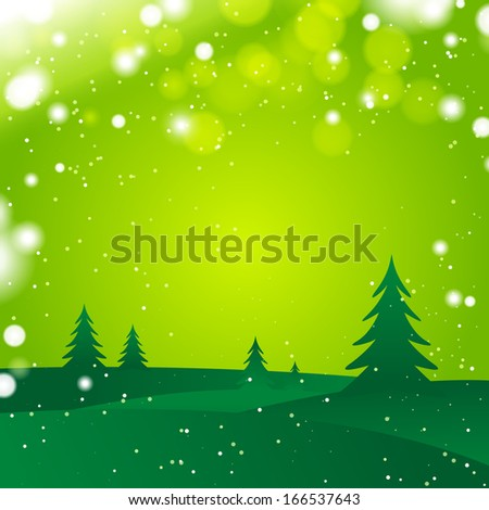 winter vector green landscape