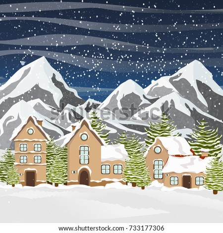 winter vector landscape with a