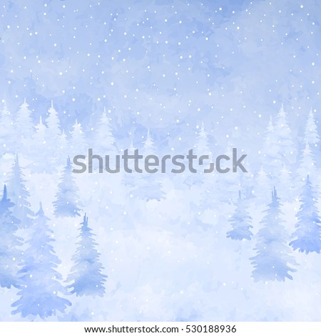 winter watercolor christmas