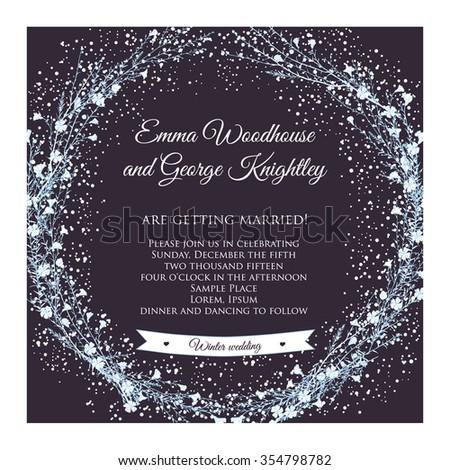 winter wedding invitation card