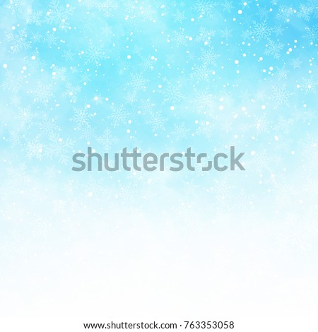 winter white and blue sky