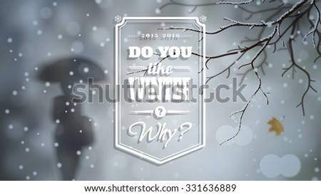 winter widescreen vector
