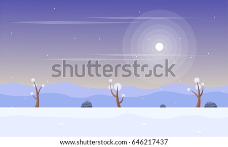 winter with snow scenery game