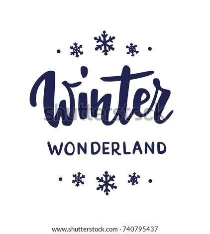 winter wonderland text  hand