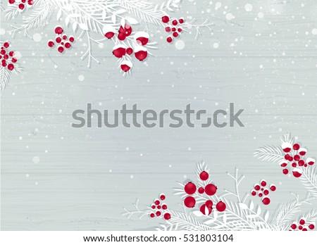 winter wooden snowy background