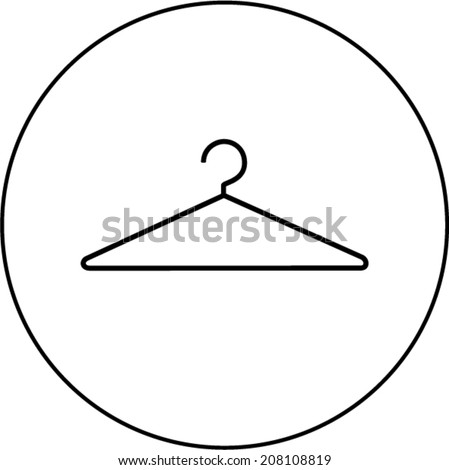 Shutterstock wire clothes hanger symbol