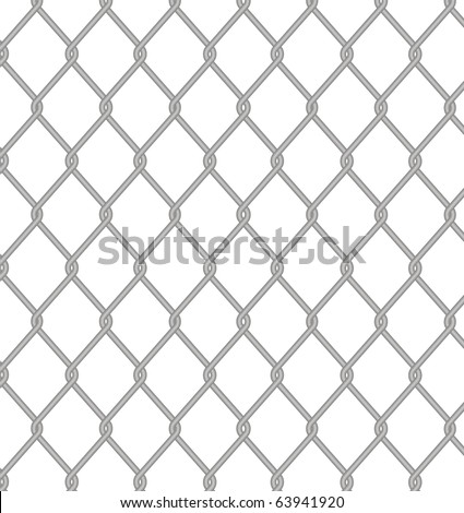 Wire fence. Vector. - stock vector