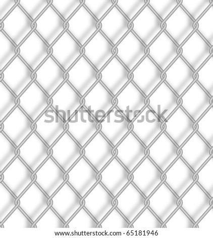 Wire fence. Vector.