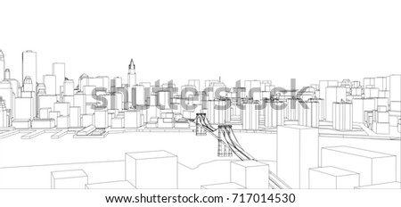 Manhattan map vector illustration download free vector art stock wire frame new york city blueprint style 3d rendering vector illustration architecture malvernweather Gallery