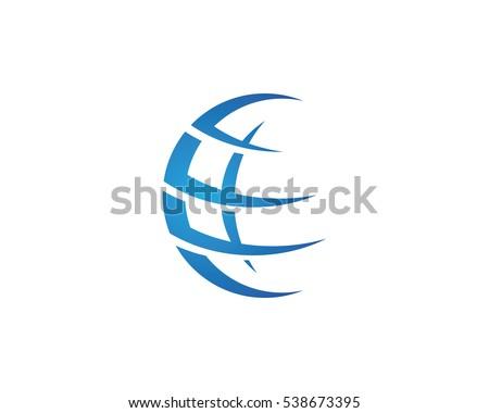 wire globe Logo template