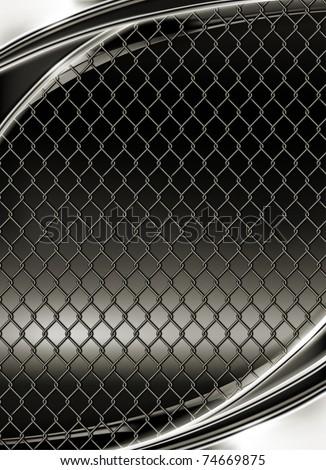 Wire mesh, black background 10eps