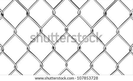 Mesh Fencing Vector Wire Mesh Fence Stock Vector