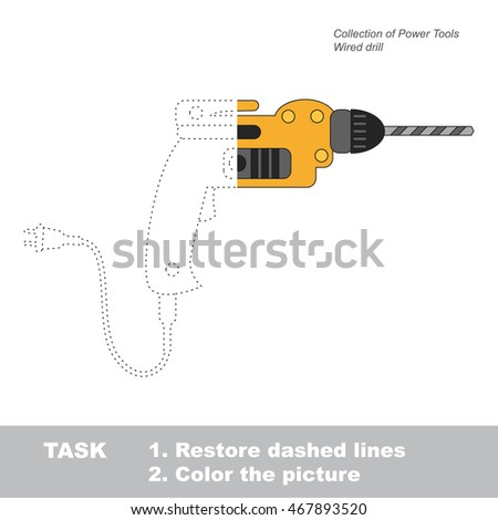 wired drill in vector to be
