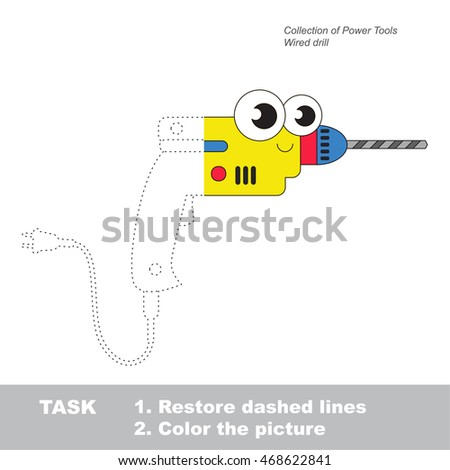 wired toy drill in vector to be