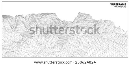 wireframe background for