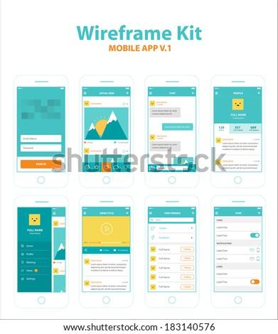 Wireframe Kit Mobile App v.1
