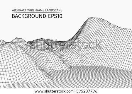 wireframe landscape background