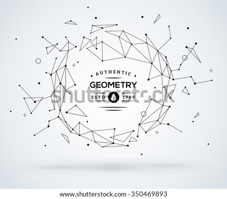 Wireframe mesh broken polygonal element. Sphere with connected lines and dots. Connection Structure. Geometric Modern Technology Concept. Digital Data Visualization. Social Network Graphic Concept