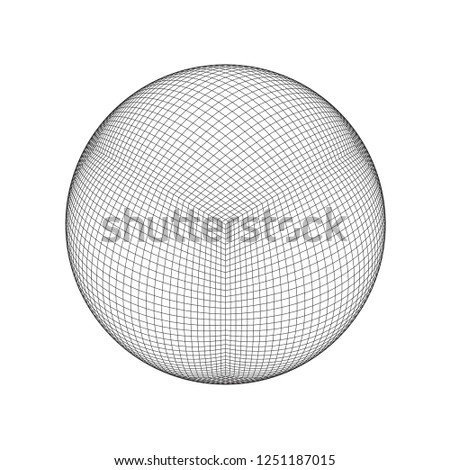 wireframe mesh objects network