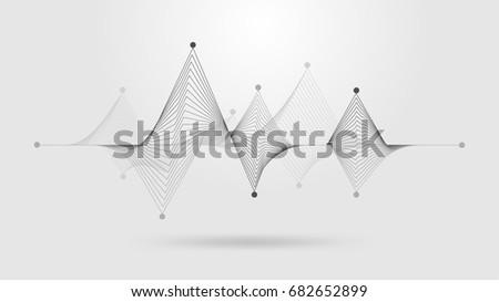 wireframe sound wave