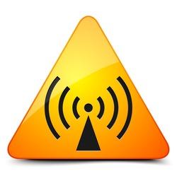 Wireless alert sign