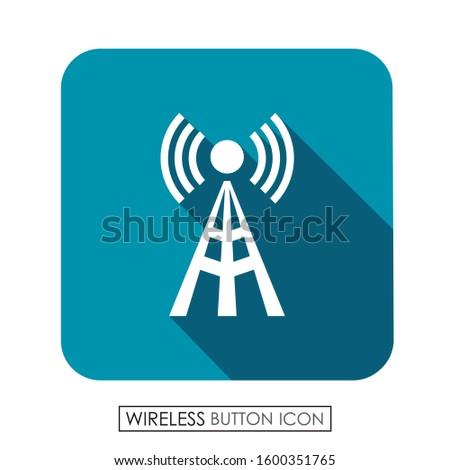 Wireless antenna button. Wireless icon.