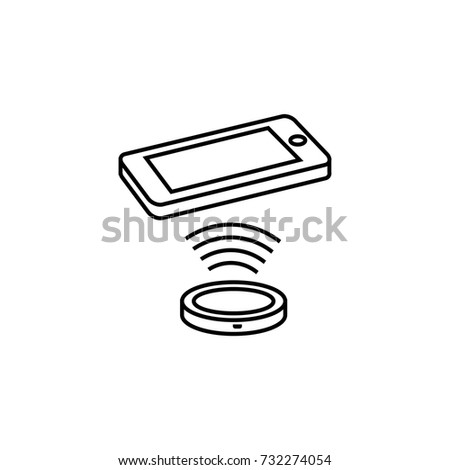 wireless charger icon vector illustration