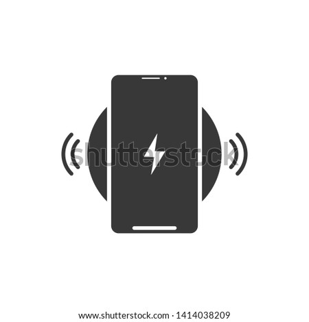 Wireless charging smartphone modern simple vector icon