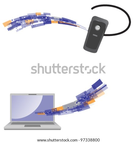Wireless communication concept. Vector illustration.