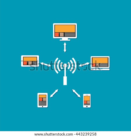 Wireless communication or wireless network connection.