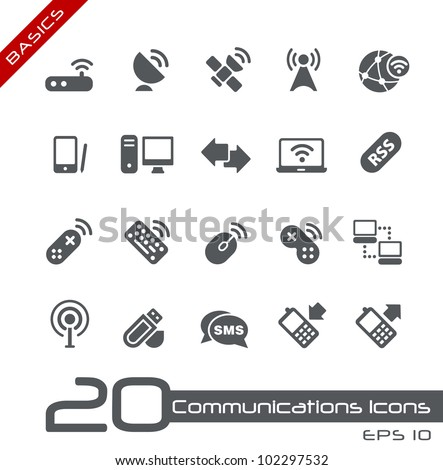 Wireless Communications Icons // Basics