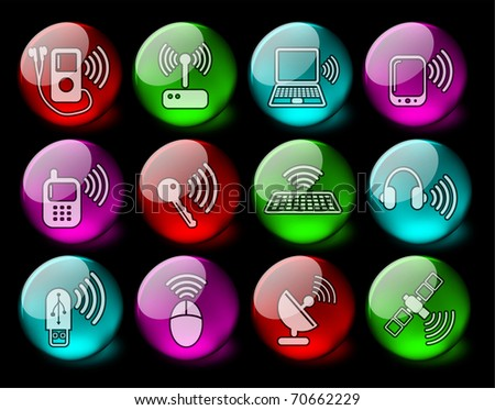 Wireless communications vector iconset - EPS10