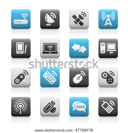 Wireless & Communications Web Icons // Matte Series