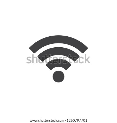 Wireless connection vector icon. filled flat sign for mobile concept and web design. Wi-fi signal simple solid icon. Symbol, logo illustration. Pixel perfect vector graphics #1260797701