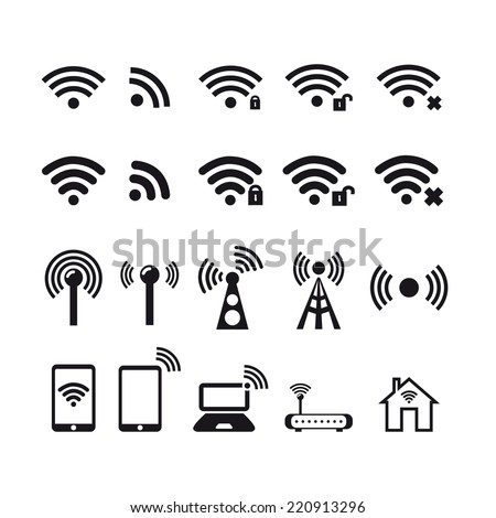Wireless  icon. Basic icons.