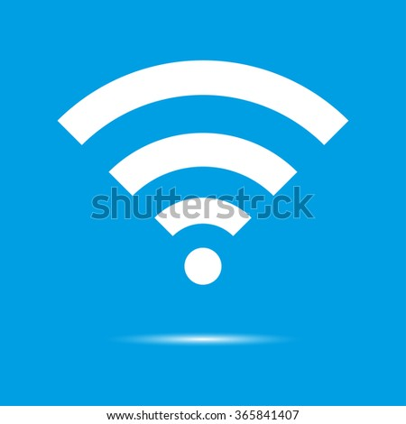 Wireless Icon. Flat design style.  With Shadow