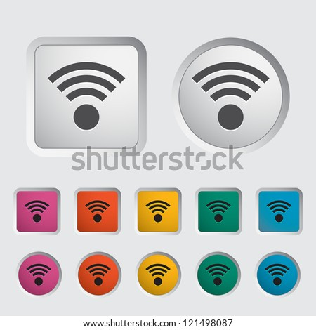 Wireless icon. Vector illustration. - stock vector