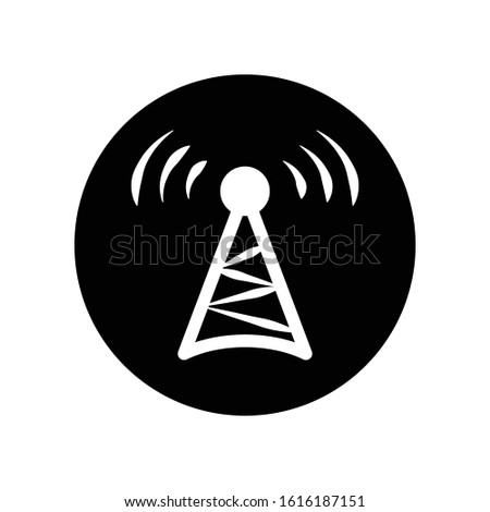 Wireless icon vector. Logo element illustration. Wireless design. Wireless concept. Can be used in web and mobile. Wifi hotspot symbol.