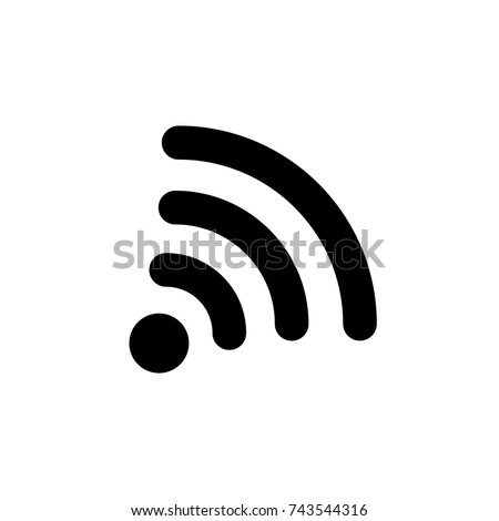 Wireless icon, Wireless icon vector, in trendy flat style isolated on white background. Wireless icon image, Wireless icon illustration