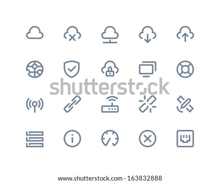 wireless network icons line