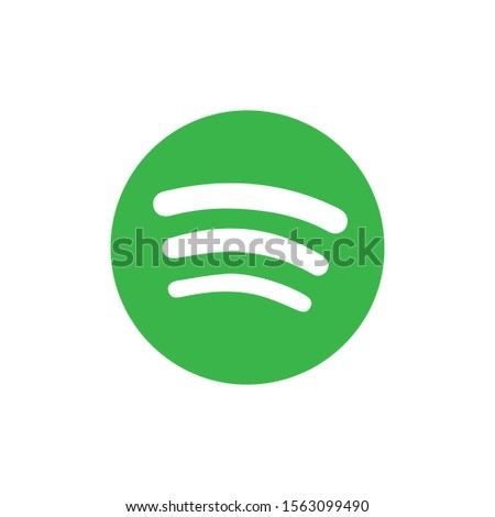 Wireless network, spotify music icon in green color vector.