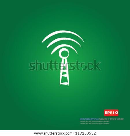 wireless sign on blackboard background,Vector