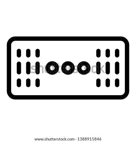 Wireless stereo speaker icon. Outline wireless stereo speaker vector icon for web design isolated on white background