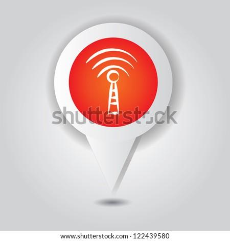 Wireless symbol,point area,Vector