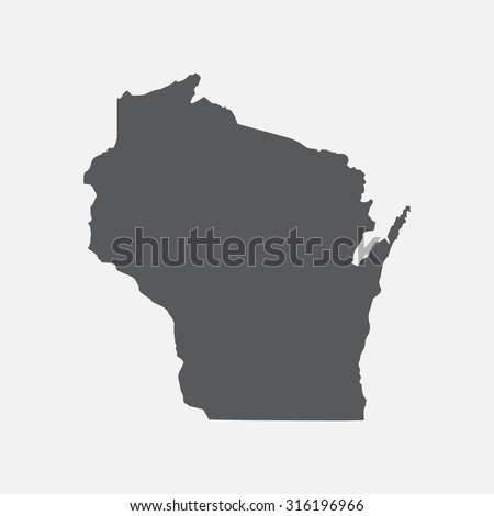 wisconsin state border map