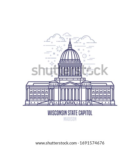 wisconsin state capitol located