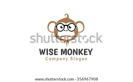 wise monkey design illustration