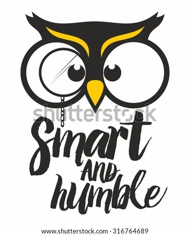 wise owl smart and humble