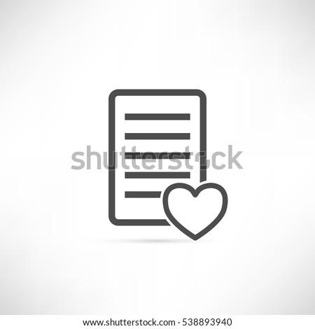 Wish list icon in simple outline design.  creative ui symbol.EPS10 vector illustration.